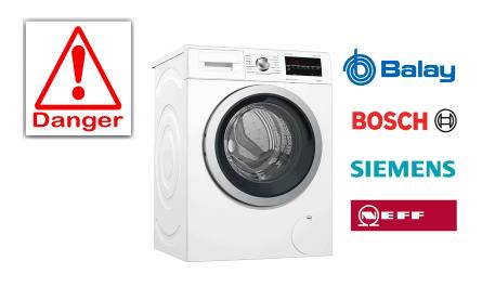 BSH retirará unas 2000 lavadoras peligrosas